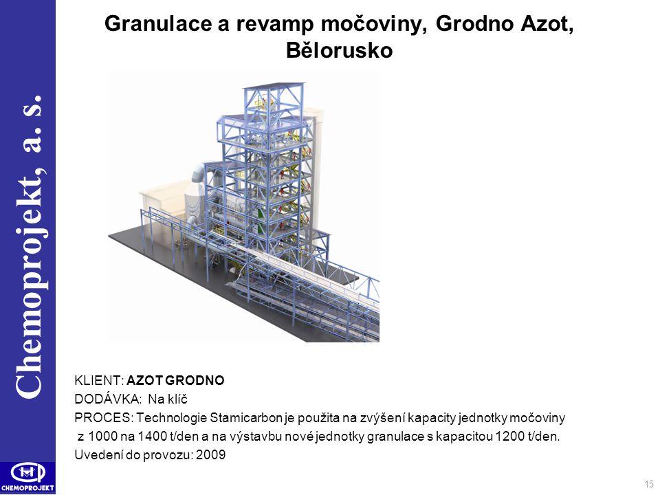 Granulace a revamp močoviny, Grodno Azot, Bělorusko