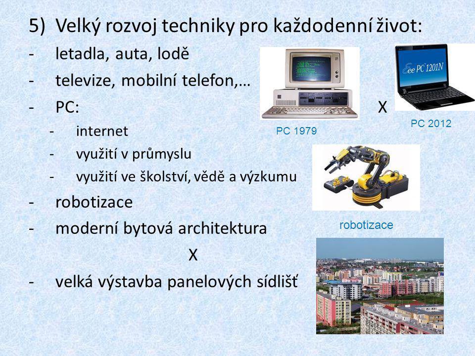Velký rozvoj techniky pro každodenní život: