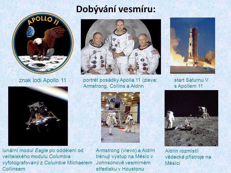 Dobývání vesmíru: znak lodi Apollo 11