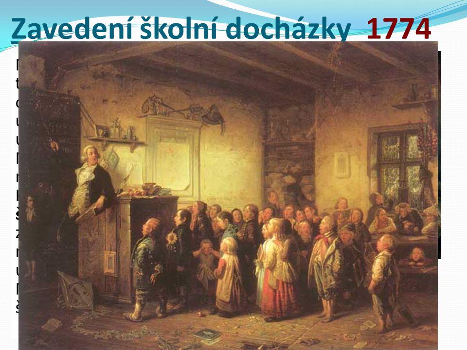 Zavedení školní docházky 1774