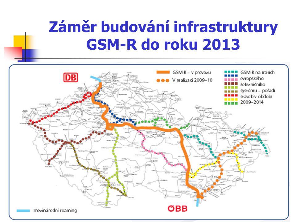 Záměr budování infrastruktury GSM-R do roku 2013