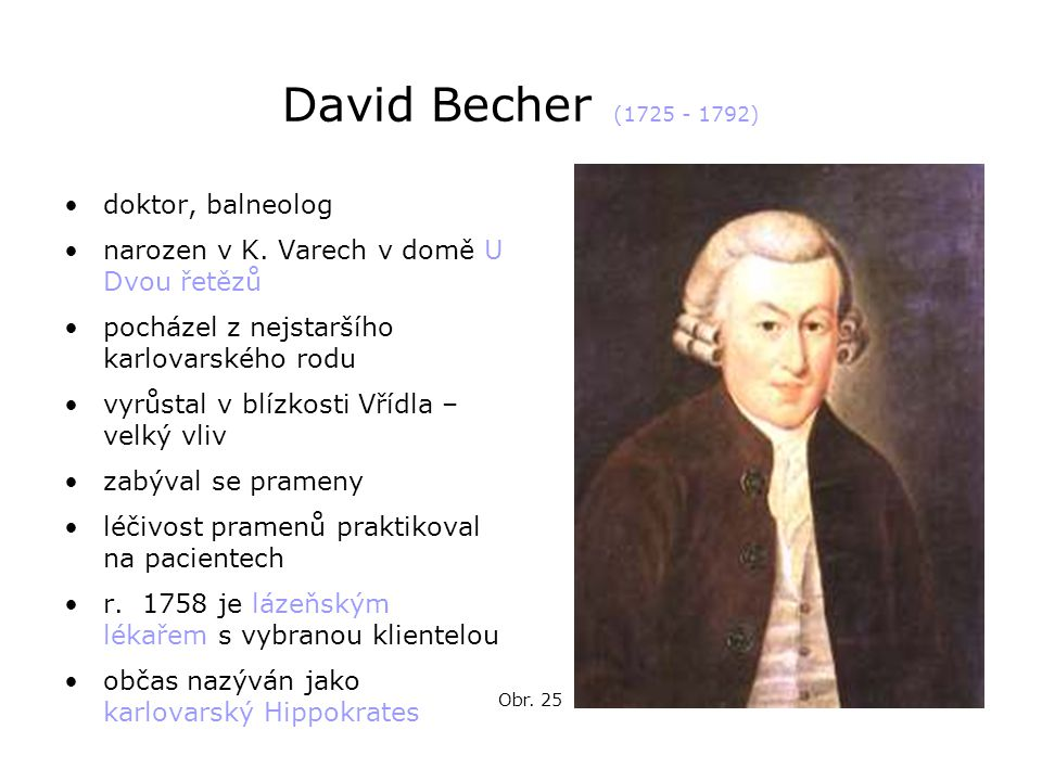 David Becher (1725 - 1792) doktor, balneolog