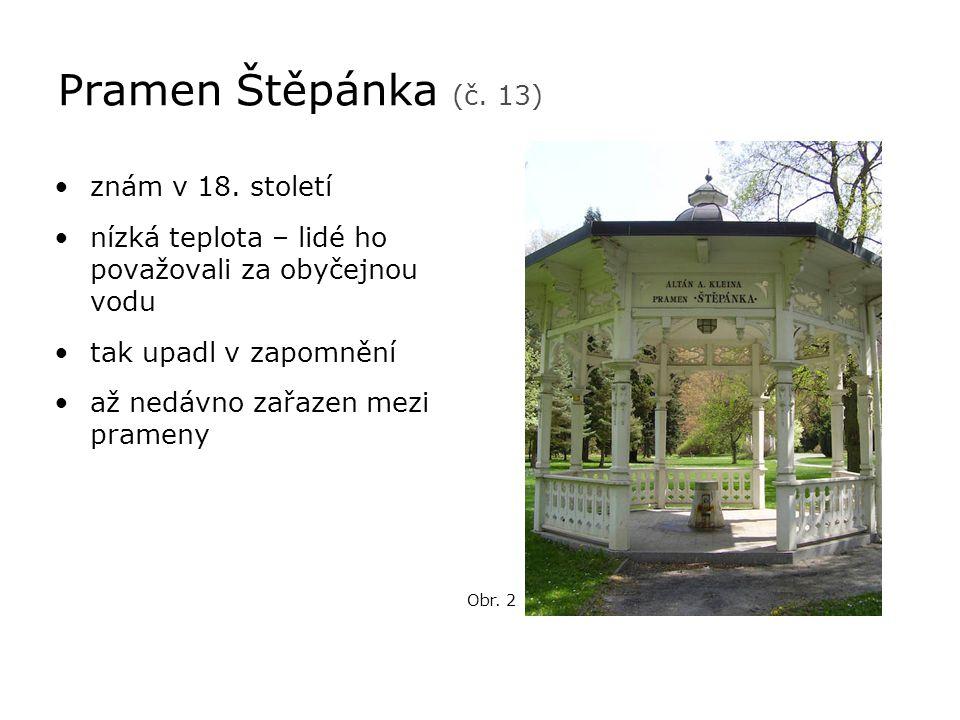 Pramen Štěpánka (č. 13) znám v 18. století