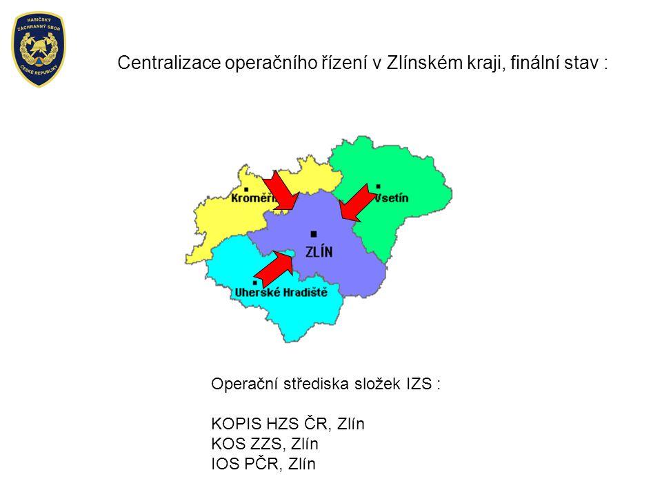 Centralizace operačního řízení v Zlínském kraji, finální stav :