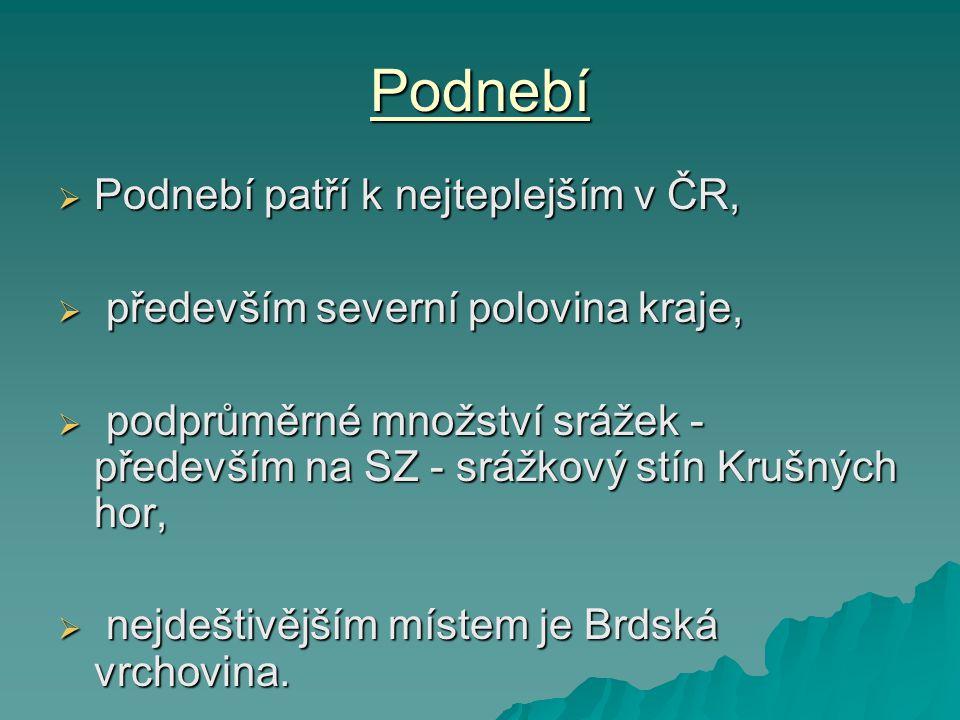 Podnebí Podnebí patří k nejteplejším v ČR,