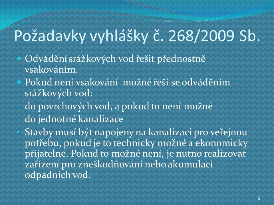 Požadavky vyhlášky č. 268/2009 Sb.