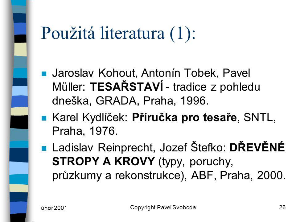 Použitá literatura (1):