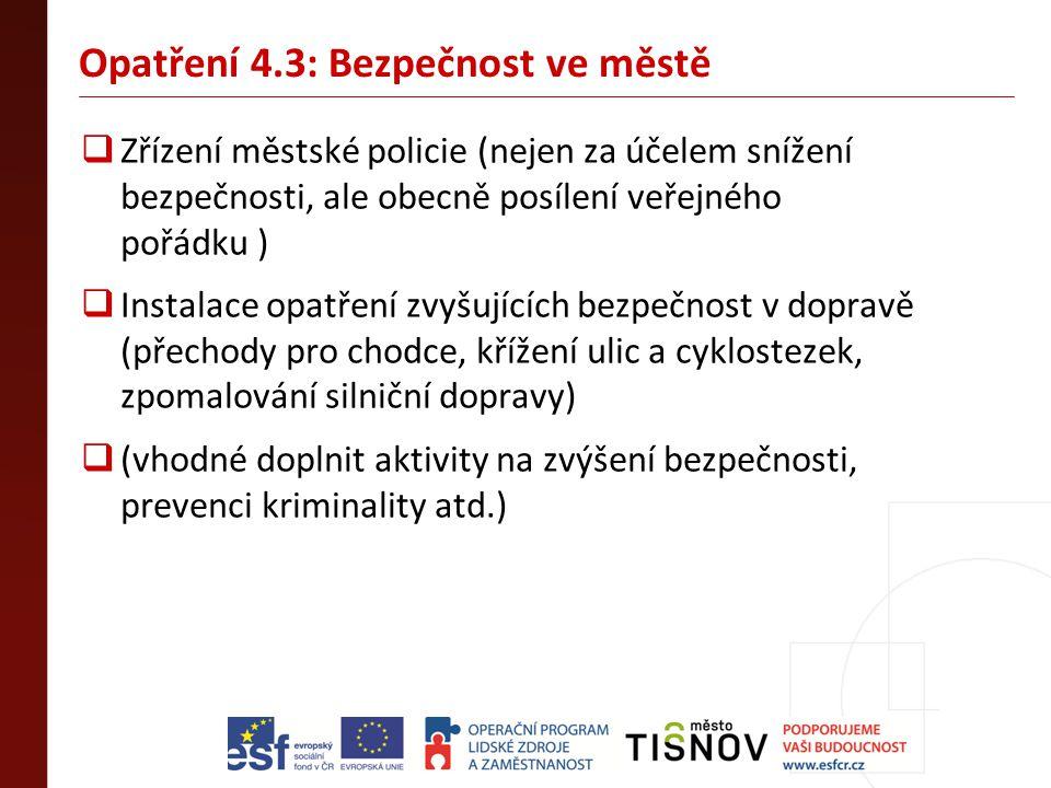 Opatření 4.3: Bezpečnost ve městě
