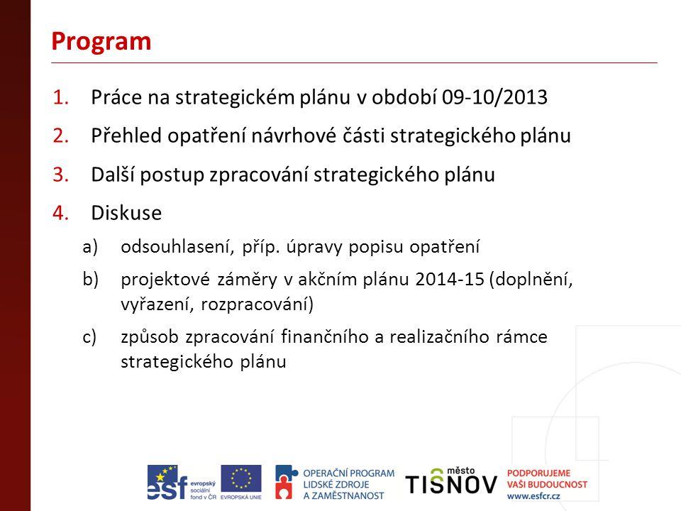 Program Práce na strategickém plánu v období 09-10/2013