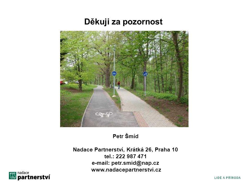 Děkuji za pozornost Petr Šmíd Nadace Partnerství, Krátká 26, Praha 10 tel.: 222 987 471. e-mail: petr.smid@nap.cz.