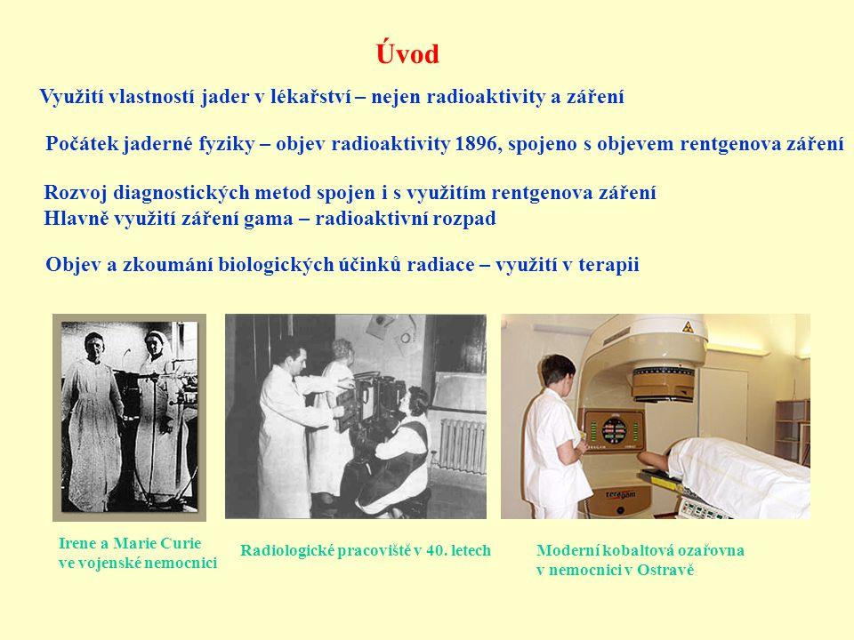 Úvod Využití vlastností jader v lékařství – nejen radioaktivity a záření.