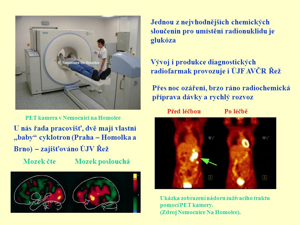 Vývoj i produkce diagnostických radiofarmak provozuje i ÚJF AVČR Řež