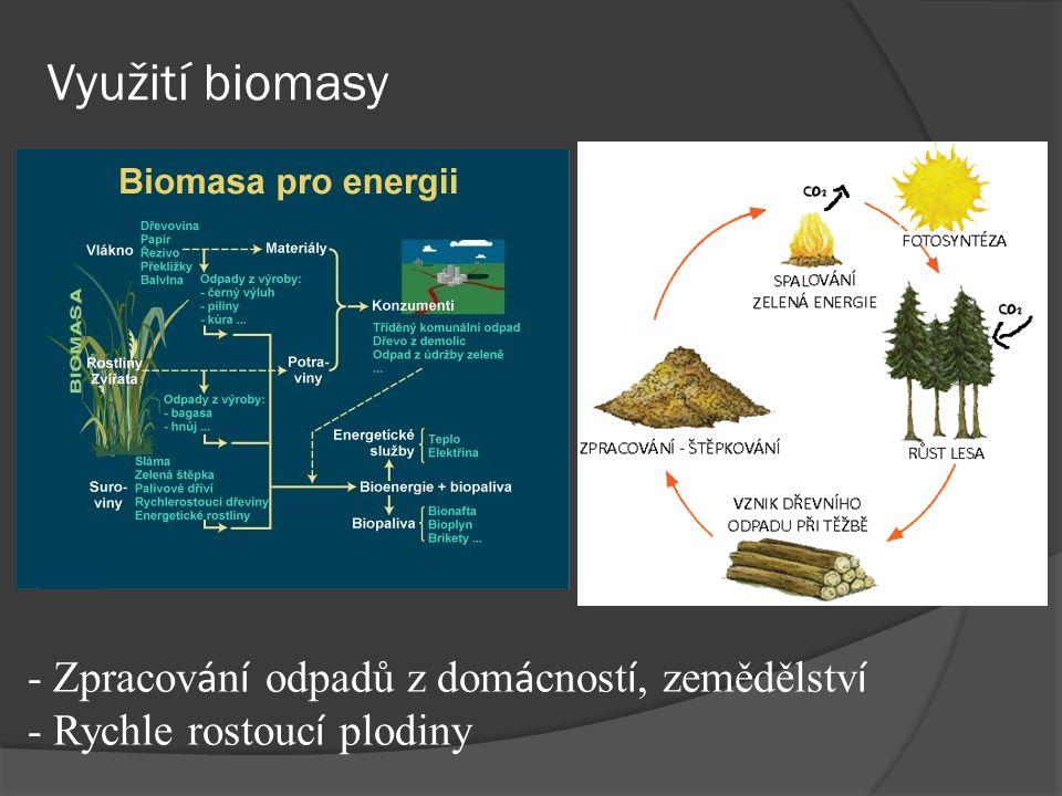 Využití biomasy - Zpracování odpadů z domácností, zemědělství