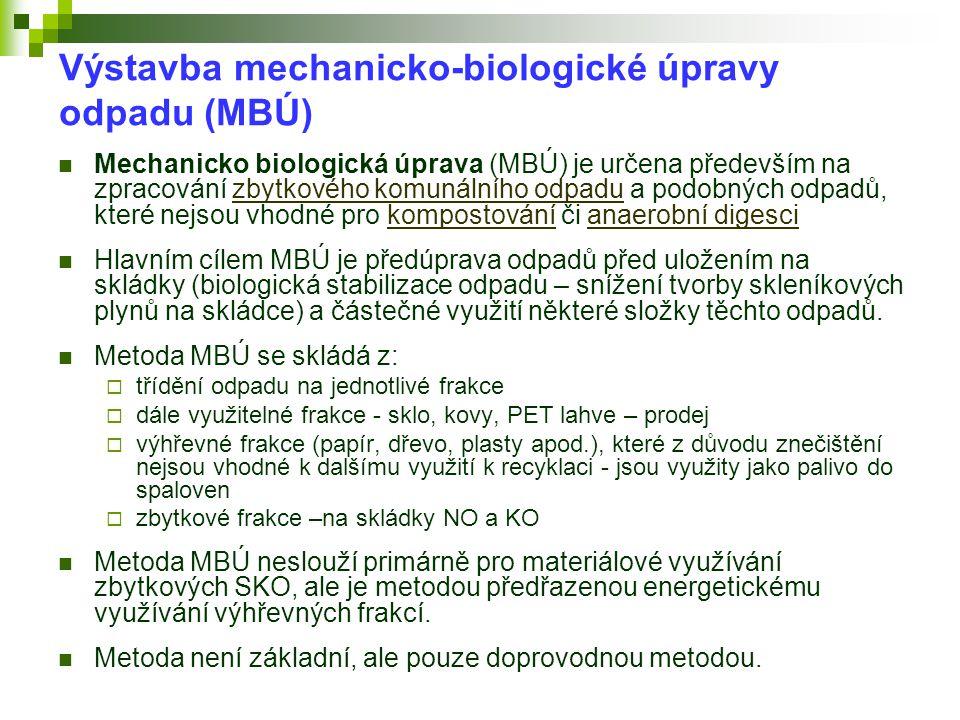 Výstavba mechanicko-biologické úpravy odpadu (MBÚ)