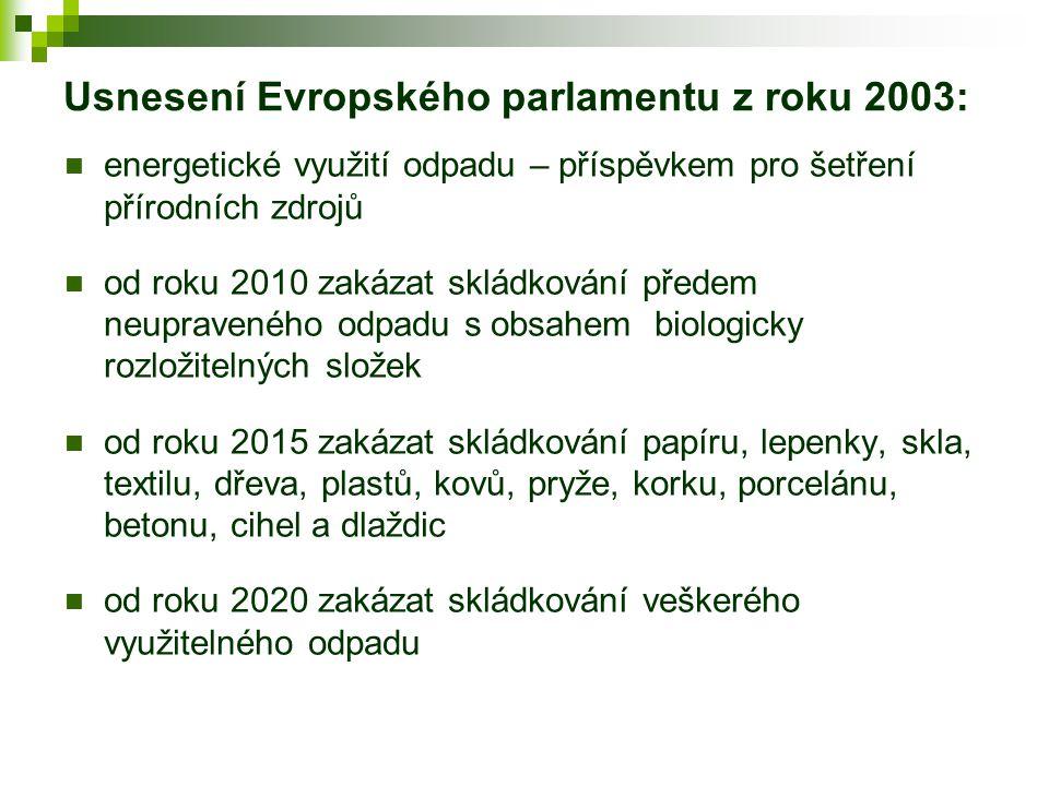 Usnesení Evropského parlamentu z roku 2003: