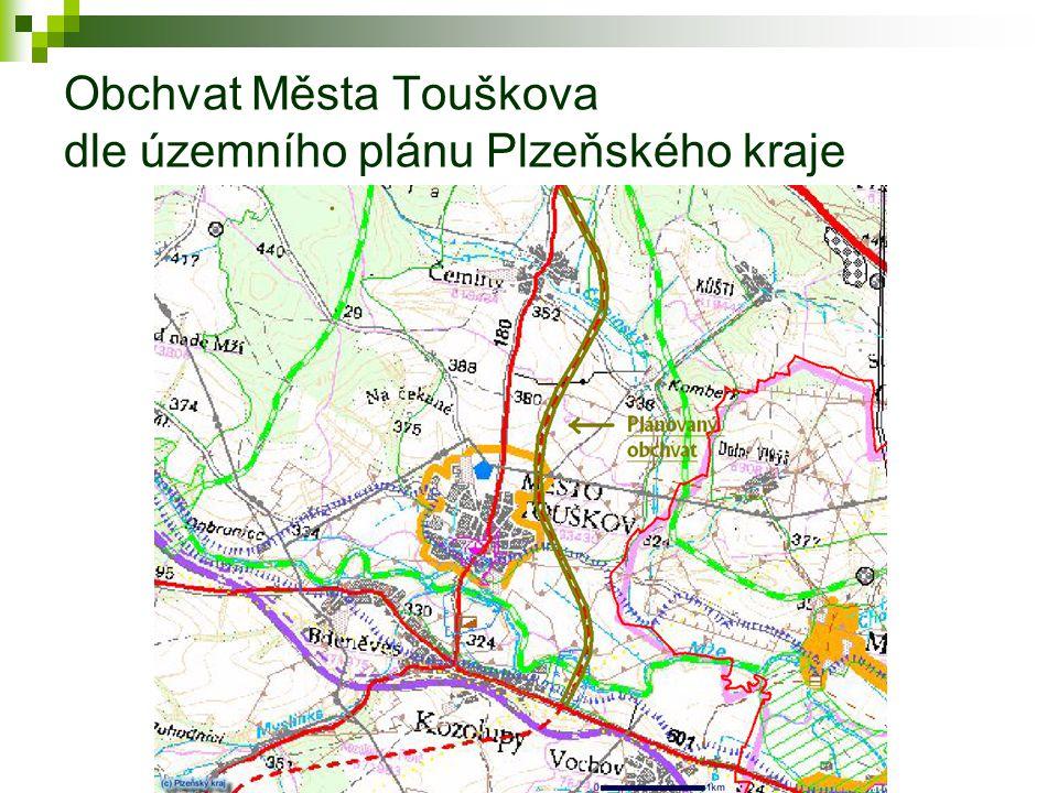 Obchvat Města Touškova dle územního plánu Plzeňského kraje