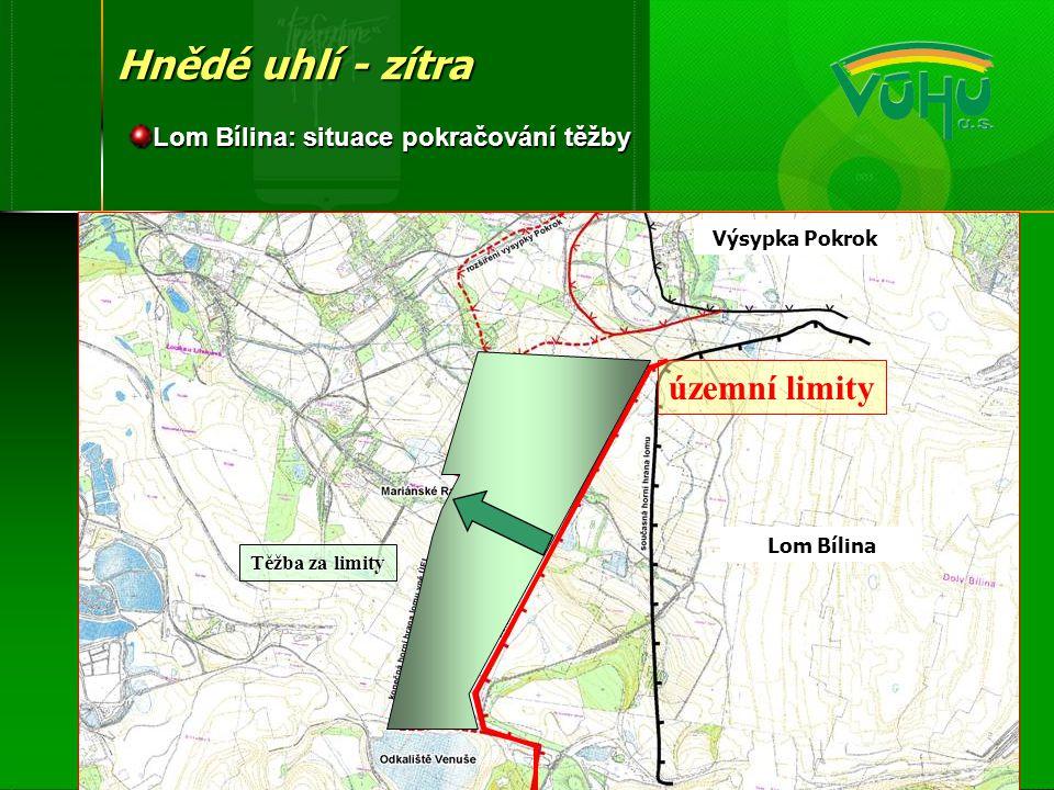 Hnědé uhlí - zítra územní limity Lom Bílina: situace pokračování těžby