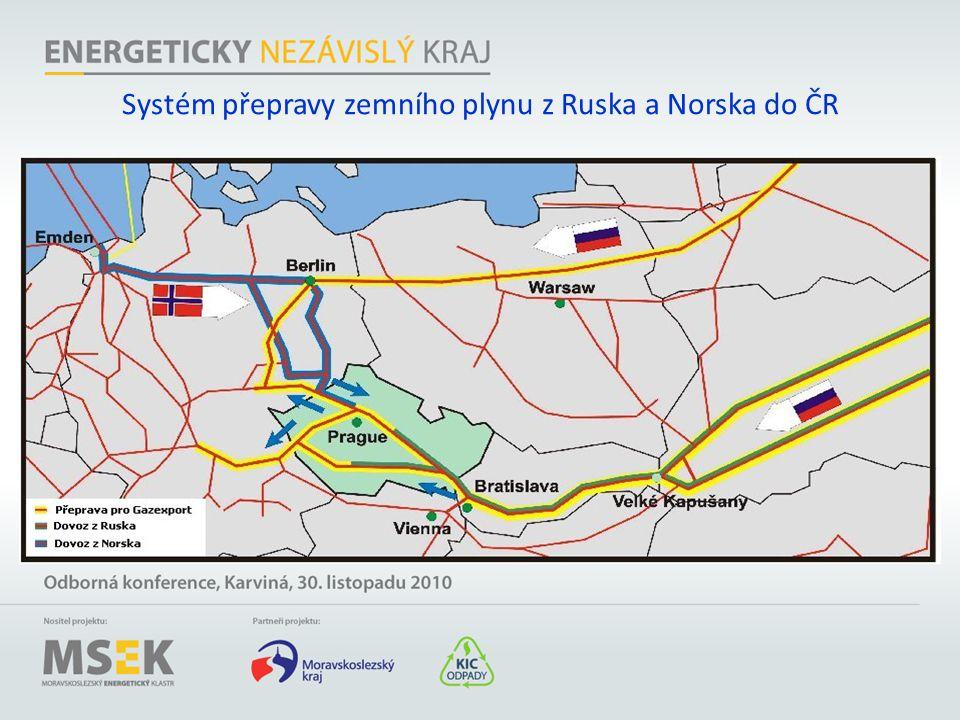 Systém přepravy zemního plynu z Ruska a Norska do ČR