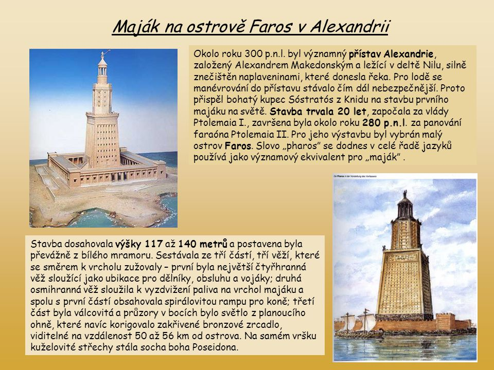 Maják na ostrově Faros v Alexandrii