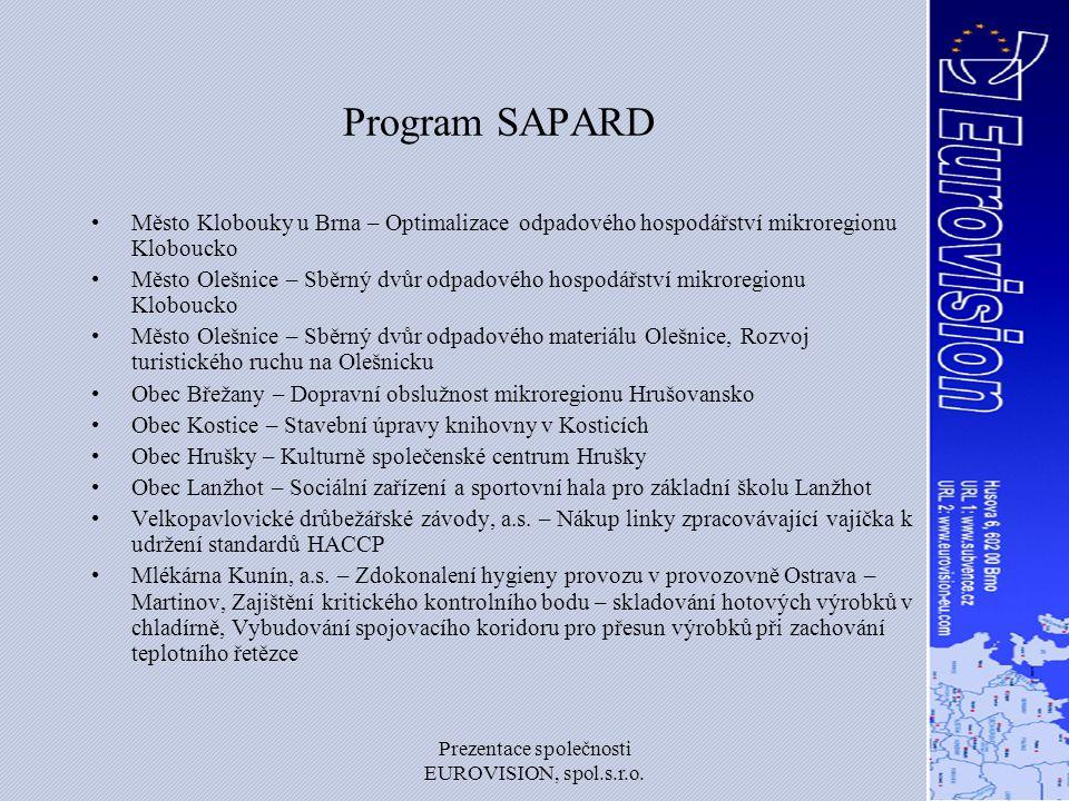 Prezentace společnosti EUROVISION, spol.s.r.o.