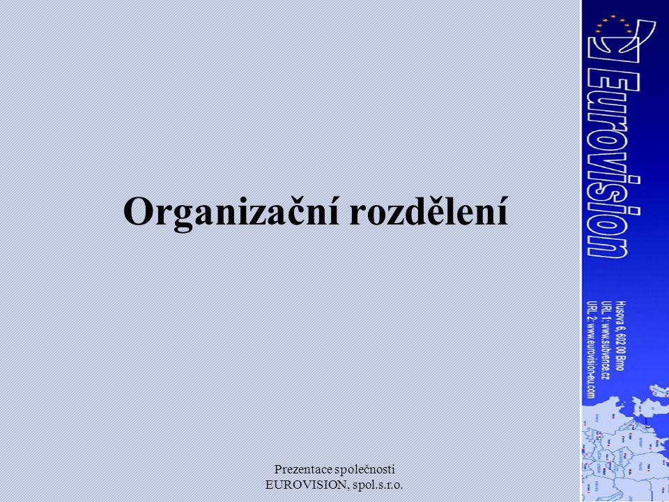 Organizační rozdělení