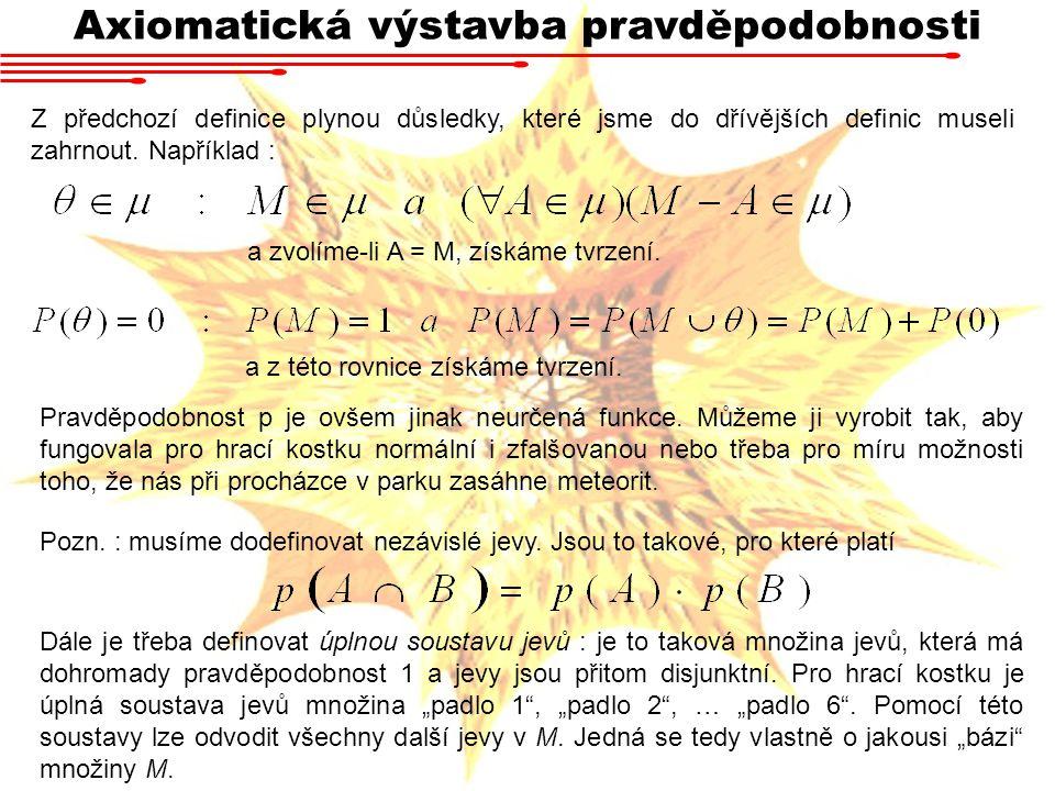 Axiomatická výstavba pravděpodobnosti
