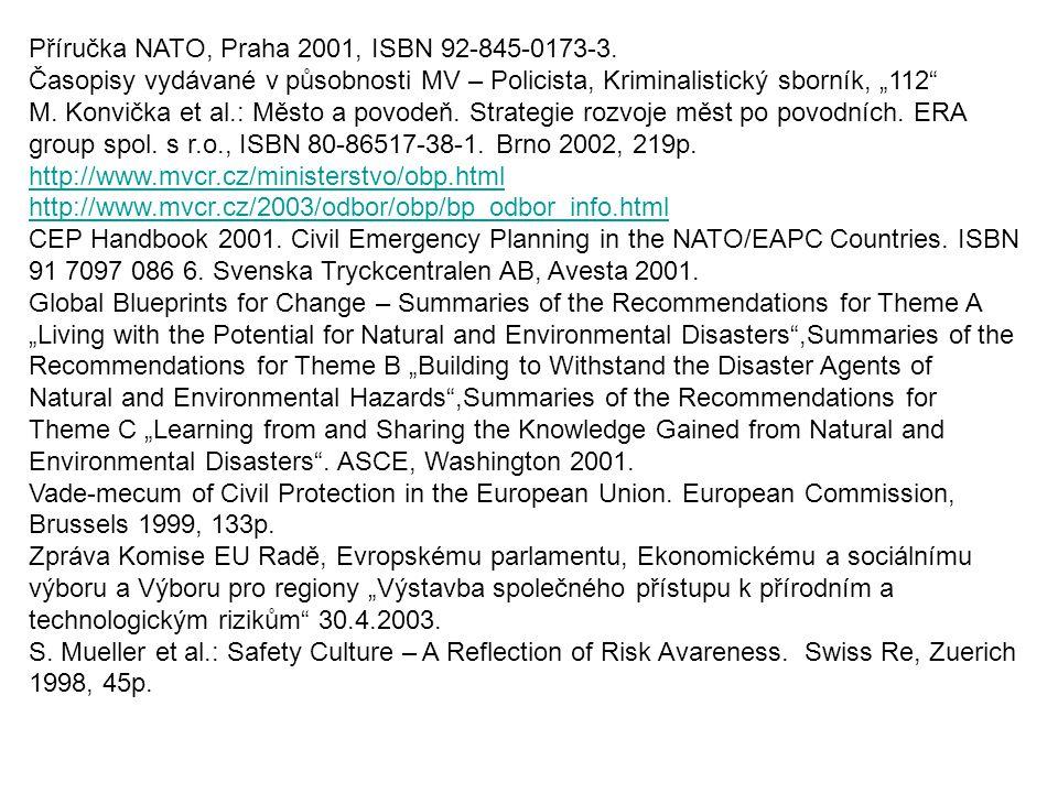 Příručka NATO, Praha 2001, ISBN 92-845-0173-3.
