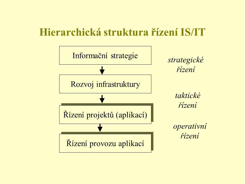 Hierarchická struktura řízení IS/IT