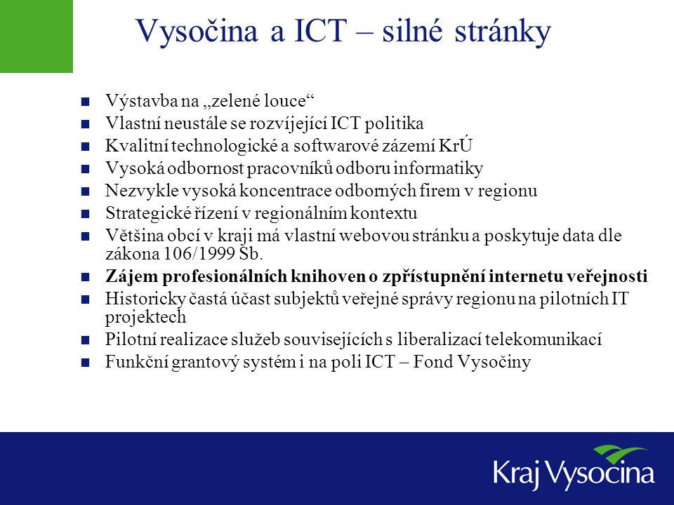 Vysočina a ICT – silné stránky