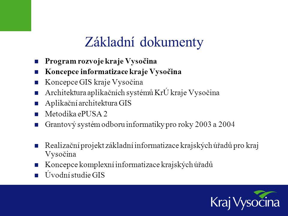 Základní dokumenty Program rozvoje kraje Vysočina