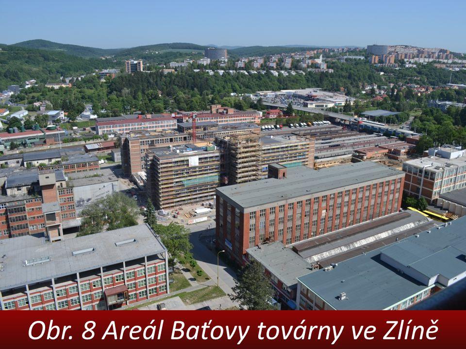Obr. 8 Areál Baťovy továrny ve Zlíně