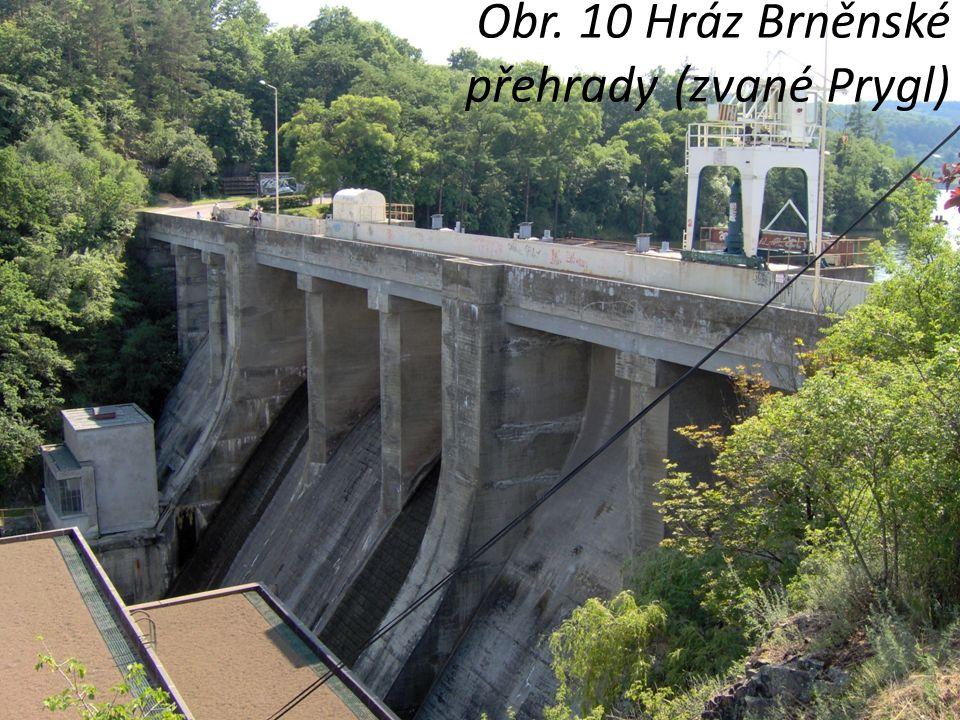 Obr. 10 Hráz Brněnské přehrady (zvané Prygl)