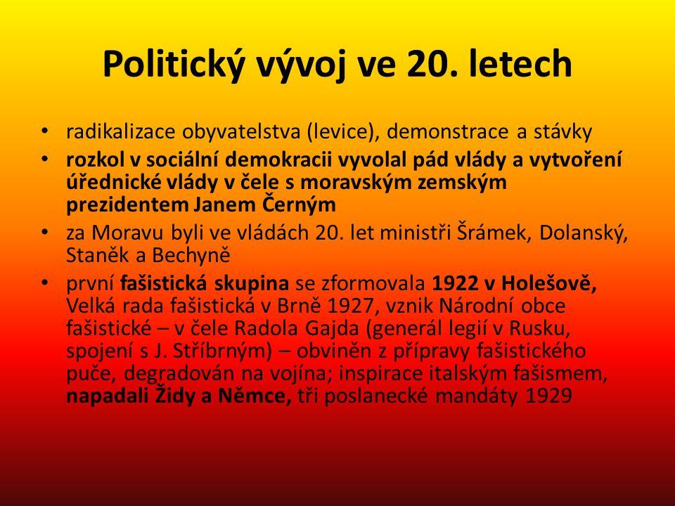 Politický vývoj ve 20. letech