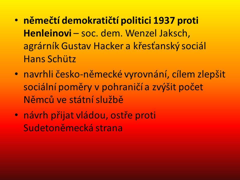 němečtí demokratičtí politici 1937 proti Henleinovi – soc. dem