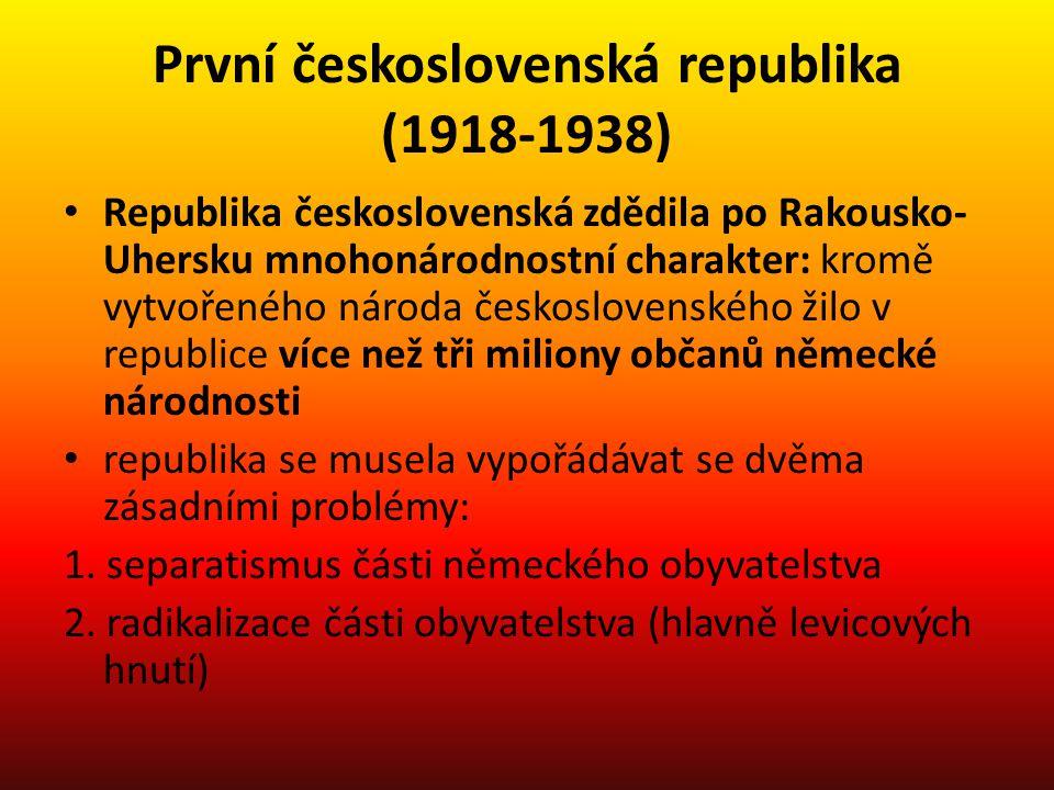První československá republika (1918-1938)