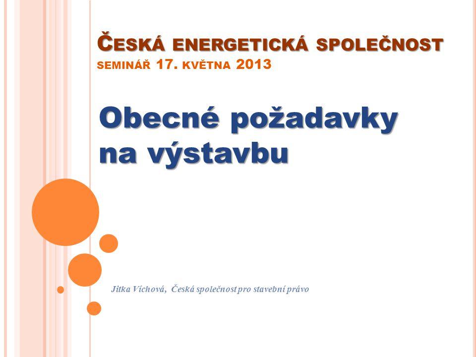 Česká energetická společnost seminář 17. května 2013