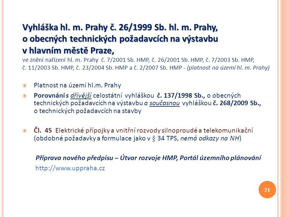 Vyhláška hl. m. Prahy č. 26/1999 Sb. hl. m
