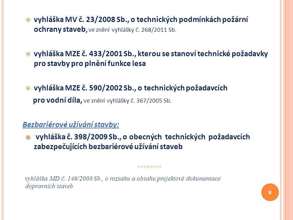 vyhláška MZE č. 590/2002 Sb., o technických požadavcích
