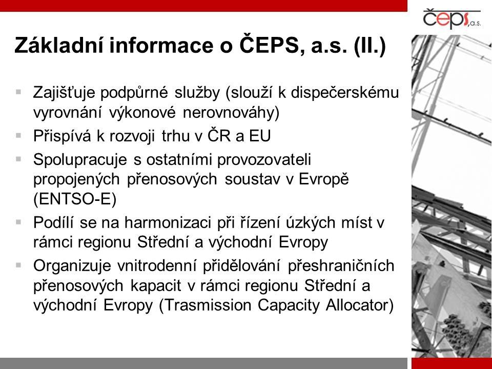 Základní informace o ČEPS, a.s. (II.)