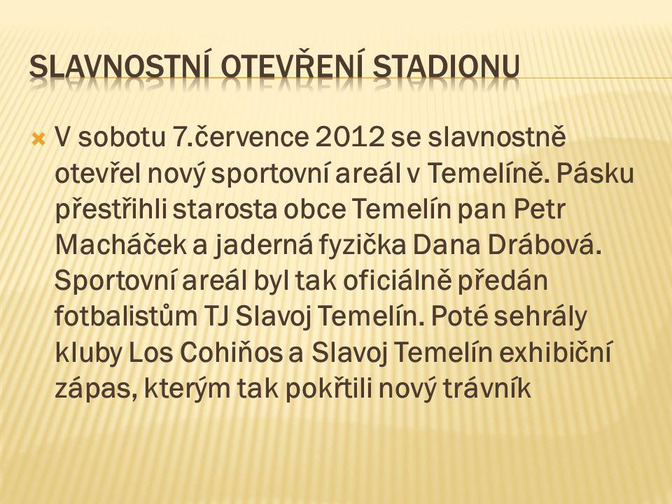Slavnostní otevření stadionu