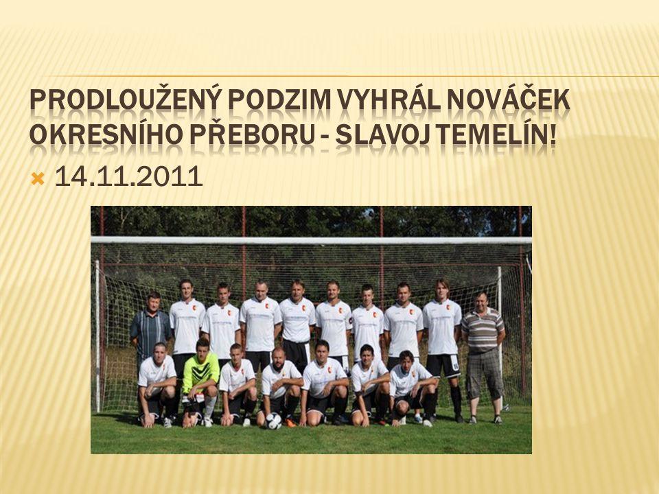 Prodloužený podzim vyhrál nováček okresního přeboru - SLAVOJ TEMELÍN!