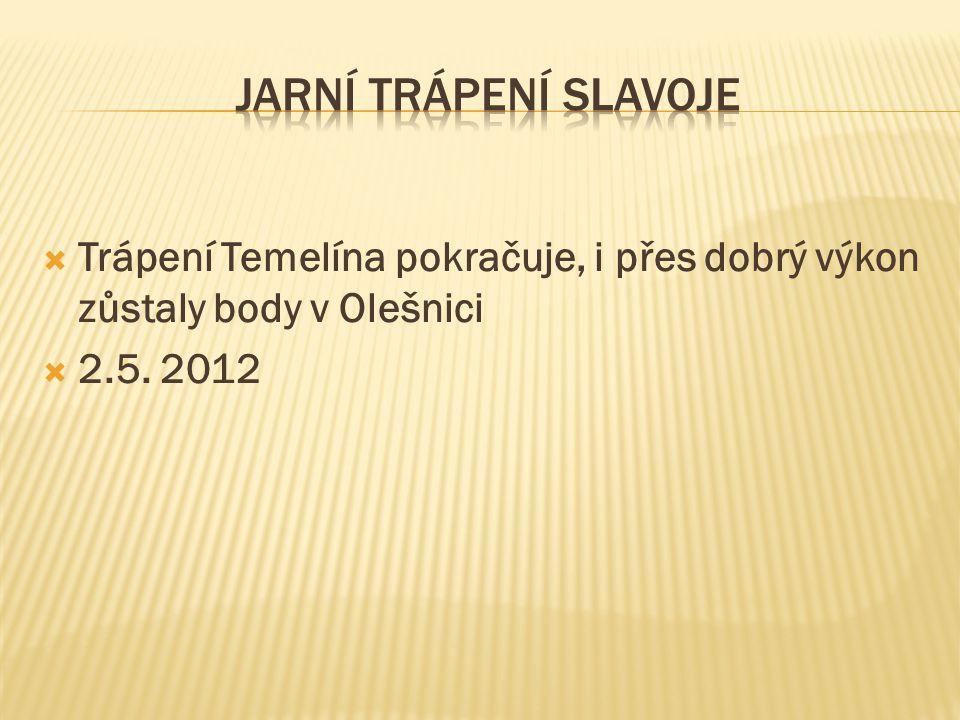 Jarní trápení SLavoje Trápení Temelína pokračuje, i přes dobrý výkon zůstaly body v Olešnici.