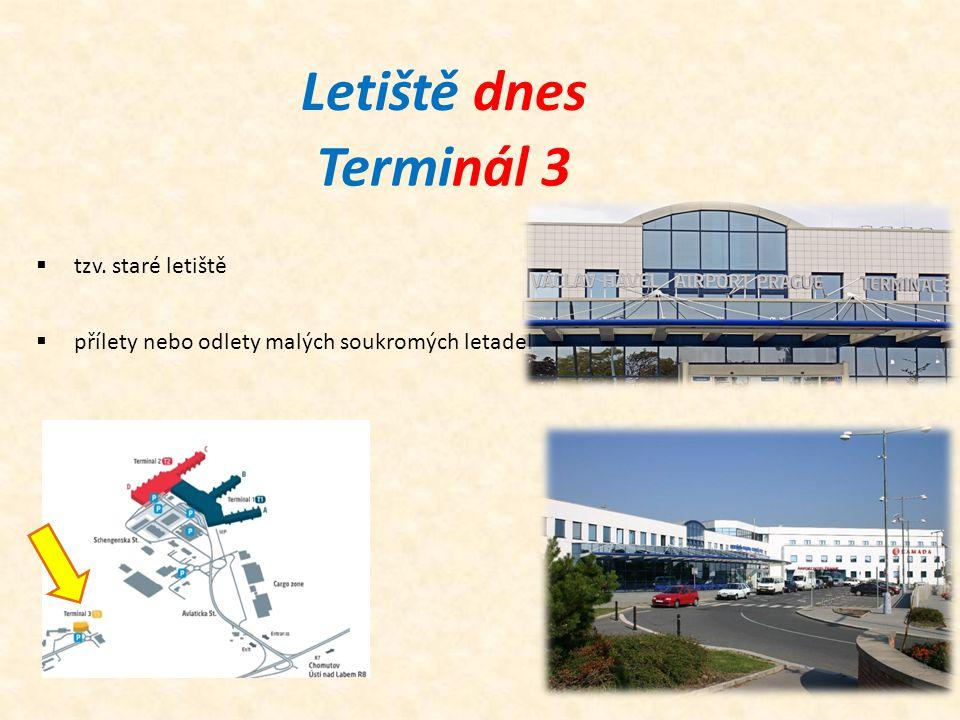 Letiště dnes Terminál 3 tzv. staré letiště