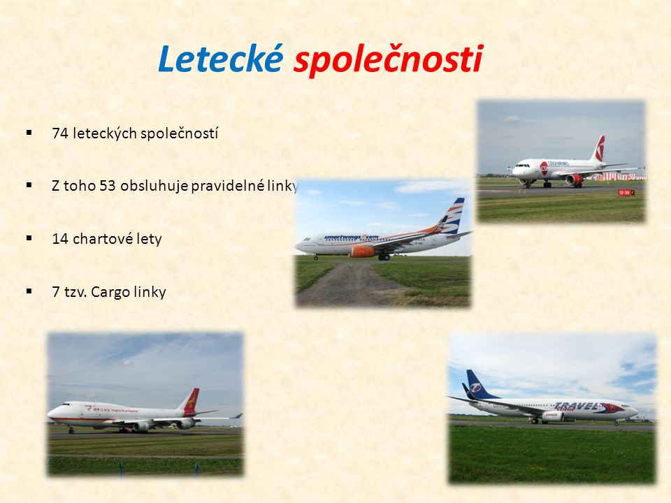 Letecké společnosti 74 leteckých společností