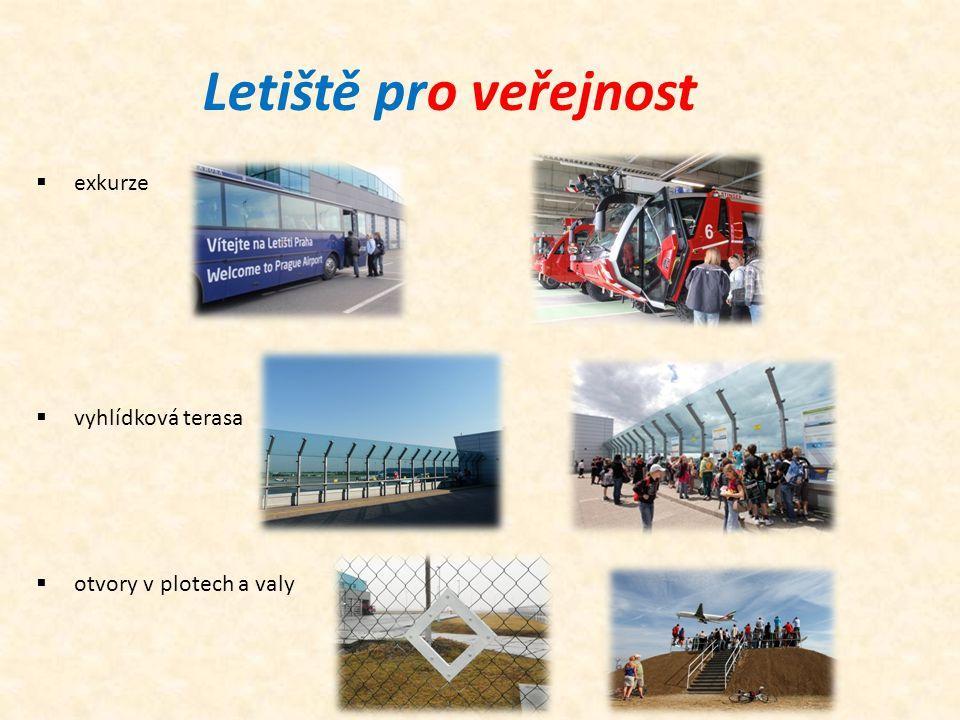 Letiště pro veřejnost exkurze vyhlídková terasa