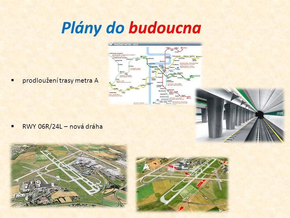 Plány do budoucna prodloužení trasy metra A RWY 06R/24L – nová dráha