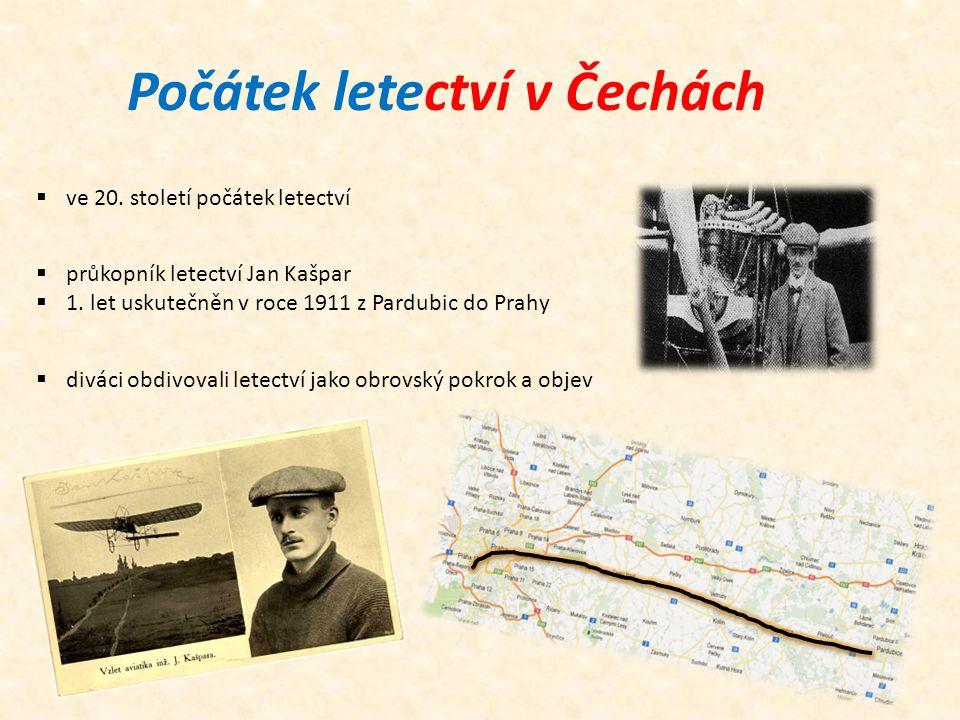 Počátek letectví v Čechách