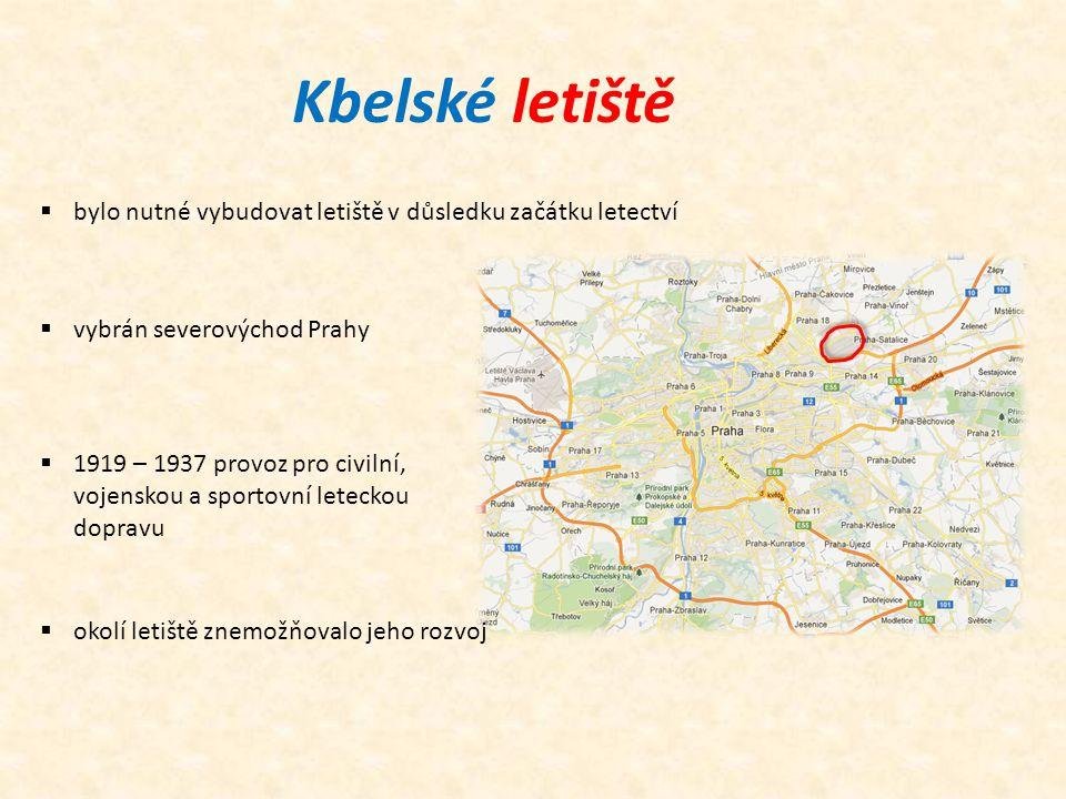 Kbelské letiště bylo nutné vybudovat letiště v důsledku začátku letectví. vybrán severovýchod Prahy.