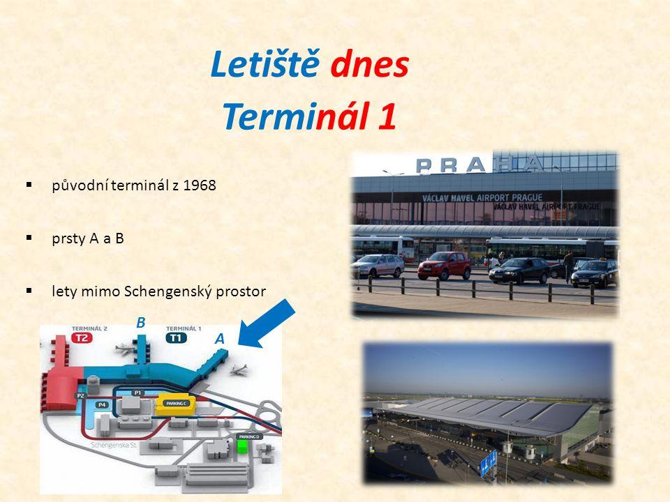 Letiště dnes Terminál 1 původní terminál z 1968 prsty A a B