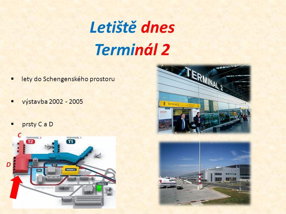 Letiště dnes Terminál 2 lety do Schengenského prostoru